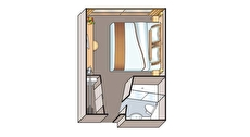 French Balcony Stateroom (D)